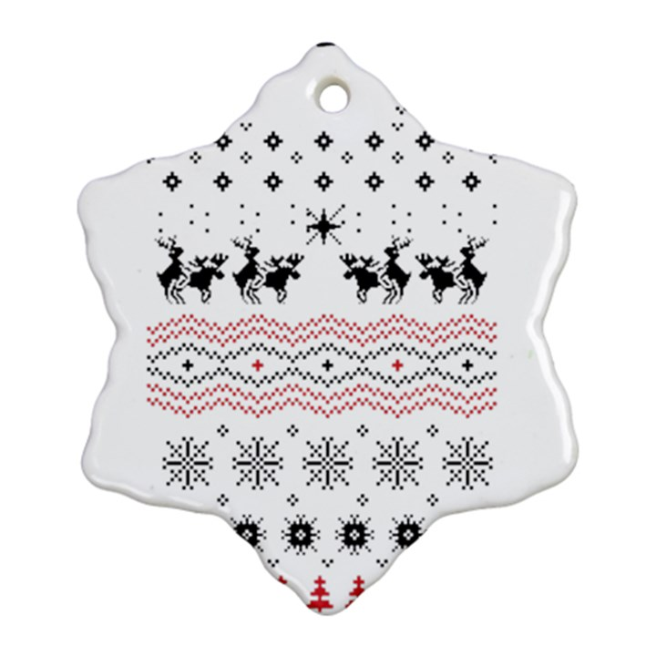 Ugly Christmas Humping Snowflake Ornament (2-Side)