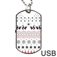Ugly Christmas Humping Dog Tag USB Flash (One Side)