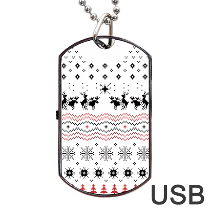 Ugly Christmas Humping Dog Tag USB Flash (Two Sides)