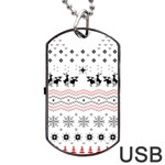 Ugly Christmas Humping Dog Tag USB Flash (Two Sides)  Back