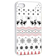 Ugly Christmas Humping Apple Iphone 4/4s Seamless Case (white)