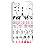 Ugly Christmas Humping Apple iPhone 4/4s Seamless Case (White) Front
