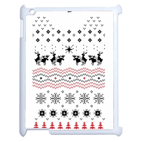 Ugly Christmas Humping Apple iPad 2 Case (White)