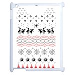 Ugly Christmas Humping Apple iPad 2 Case (White) Front