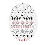 Ugly Christmas Humping Oval Filigree Ornament (2-Side)  Front