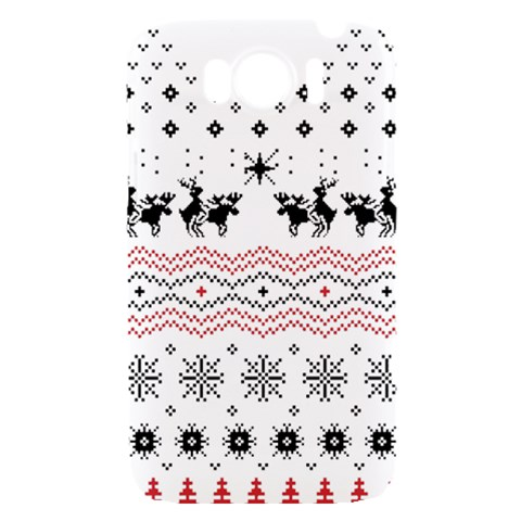 Ugly Christmas Humping HTC Sensation XL Hardshell Case