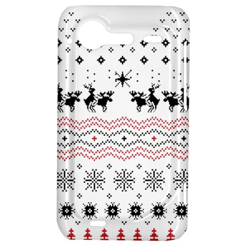 Ugly Christmas Humping HTC Incredible S Hardshell Case