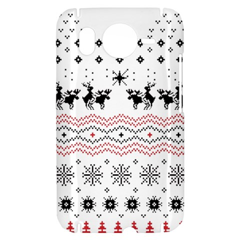 Ugly Christmas Humping HTC Desire HD Hardshell Case