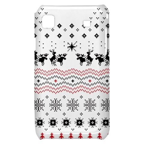 Ugly Christmas Humping Samsung Galaxy S i9000 Hardshell Case