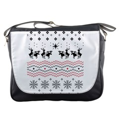 Ugly Christmas Humping Messenger Bags