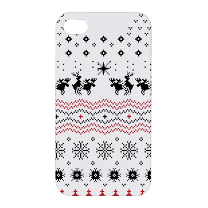 Ugly Christmas Humping Apple iPhone 4/4S Premium Hardshell Case