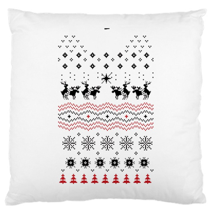 Ugly Christmas Humping Large Cushion Case (One Side)