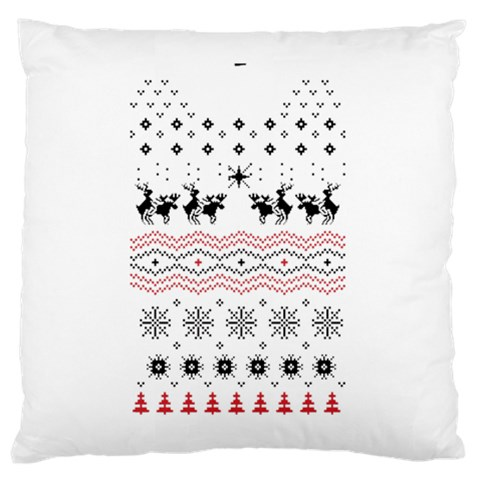 Ugly Christmas Humping Large Cushion Case (Two Sides)
