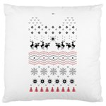 Ugly Christmas Humping Large Cushion Case (Two Sides) Back