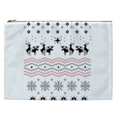Ugly Christmas Humping Cosmetic Bag (XXL)