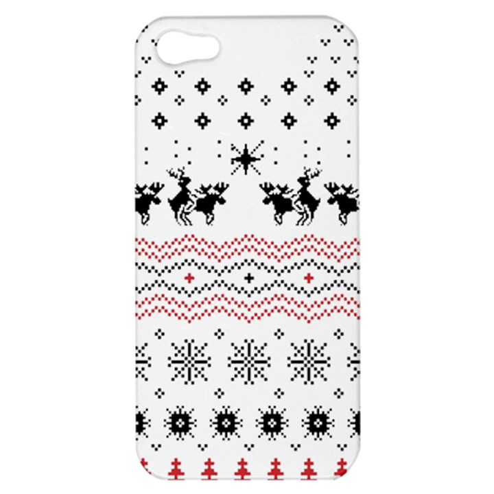 Ugly Christmas Humping Apple iPhone 5 Hardshell Case