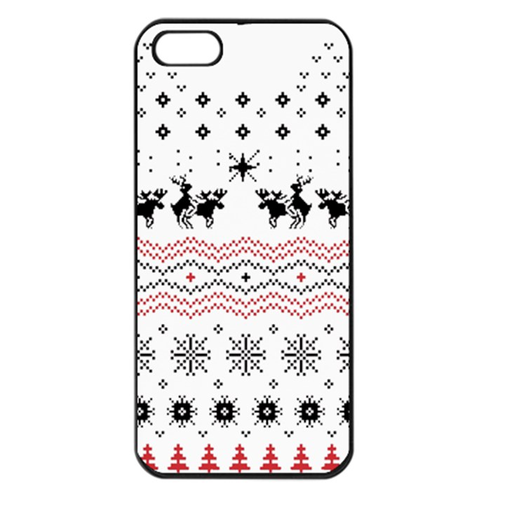 Ugly Christmas Humping Apple iPhone 5 Seamless Case (Black)