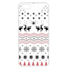 Ugly Christmas Humping Apple Iphone 5 Seamless Case (white)