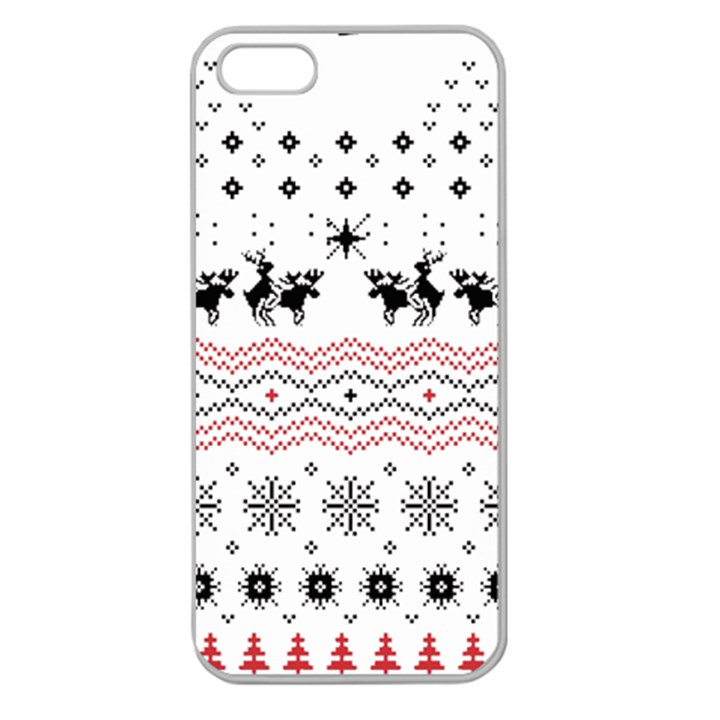 Ugly Christmas Humping Apple Seamless iPhone 5 Case (Clear)