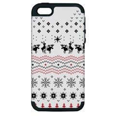 Ugly Christmas Humping Apple iPhone 5 Hardshell Case (PC+Silicone)