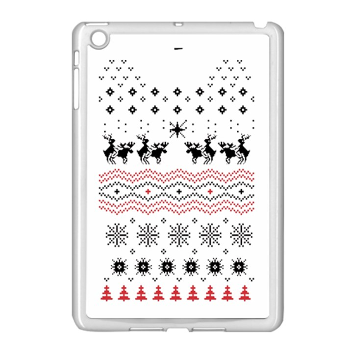 Ugly Christmas Humping Apple iPad Mini Case (White)