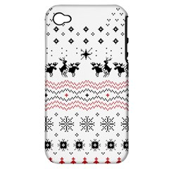 Ugly Christmas Humping Apple iPhone 4/4S Hardshell Case (PC+Silicone)