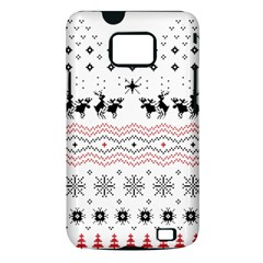 Ugly Christmas Humping Samsung Galaxy S II i9100 Hardshell Case (PC+Silicone)