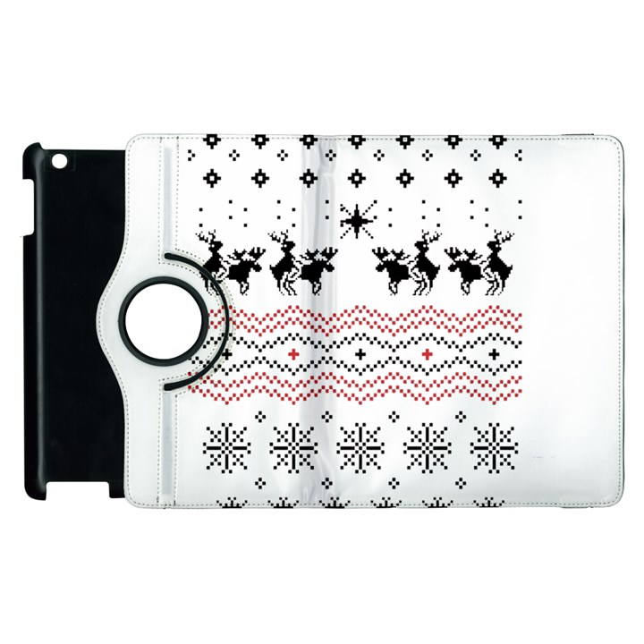 Ugly Christmas Humping Apple iPad 2 Flip 360 Case