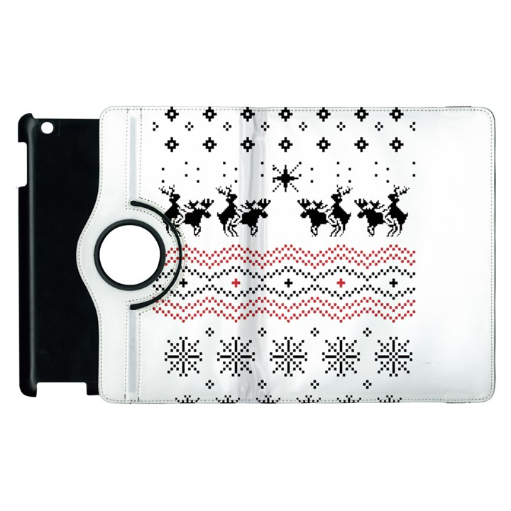 Ugly Christmas Humping Apple iPad 3/4 Flip 360 Case