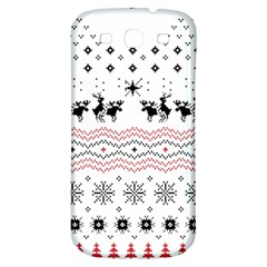Ugly Christmas Humping Samsung Galaxy S3 S III Classic Hardshell Back Case