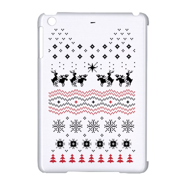 Ugly Christmas Humping Apple iPad Mini Hardshell Case (Compatible with Smart Cover)