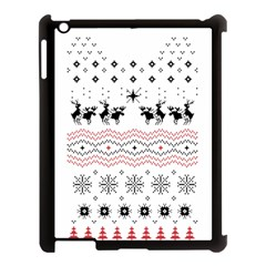Ugly Christmas Humping Apple iPad 3/4 Case (Black)