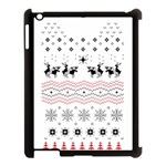 Ugly Christmas Humping Apple iPad 3/4 Case (Black) Front