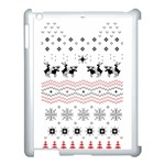 Ugly Christmas Humping Apple iPad 3/4 Case (White) Front
