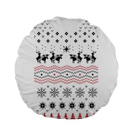 Ugly Christmas Humping Standard 15  Premium Round Cushions