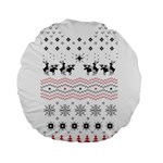 Ugly Christmas Humping Standard 15  Premium Round Cushions Back