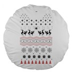 Ugly Christmas Humping Large 18  Premium Round Cushions Front