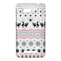 Ugly Christmas Humping HTC One SU T528W Hardshell Case