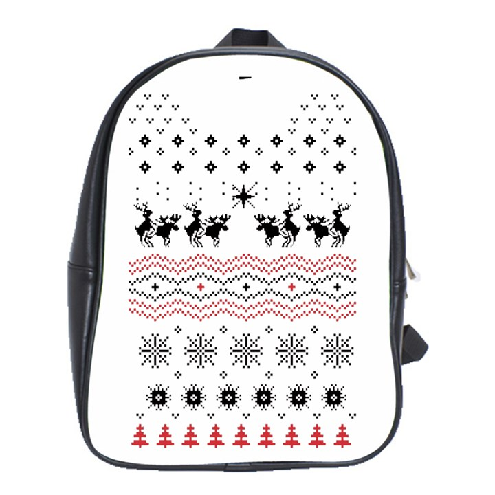 Ugly Christmas Humping School Bags (XL)