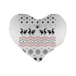 Ugly Christmas Humping Standard 16  Premium Heart Shape Cushions Front