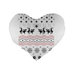 Ugly Christmas Humping Standard 16  Premium Heart Shape Cushions Back