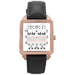 Ugly Christmas Humping Rose Gold Leather Watch  Front