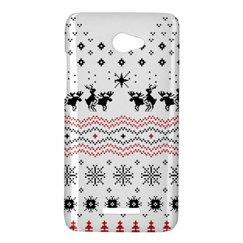 Ugly Christmas Humping HTC Butterfly X920E Hardshell Case