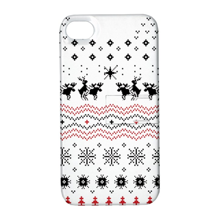 Ugly Christmas Humping Apple iPhone 4/4S Hardshell Case with Stand