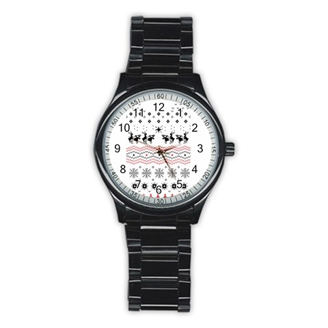 Ugly Christmas Humping Stainless Steel Round Watch