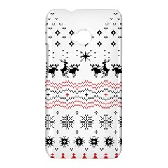 Ugly Christmas Humping HTC One M7 Hardshell Case