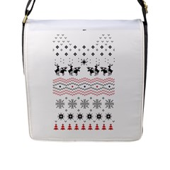 Ugly Christmas Humping Flap Messenger Bag (L)