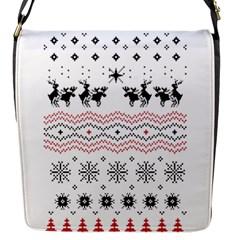 Ugly Christmas Humping Flap Messenger Bag (S)