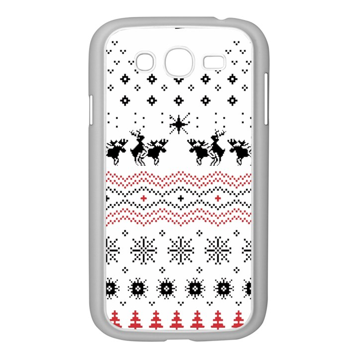Ugly Christmas Humping Samsung Galaxy Grand DUOS I9082 Case (White)