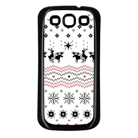 Ugly Christmas Humping Samsung Galaxy S3 Back Case (Black)